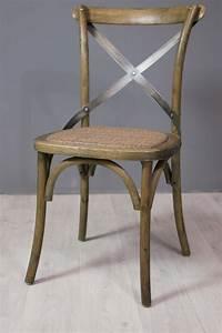 Chaise Rotin Metal : assise et fauteuil chaise bistrot en ch ne et m tal ~ Teatrodelosmanantiales.com Idées de Décoration