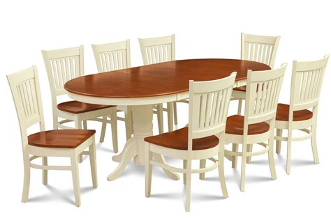 9 dining room table 9 piece oval dining room table set w 8 wooden chair in