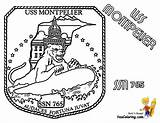 Coloring Submarine Pages Uss Montpelier Yescoloring Navy Sheet Boss Boys sketch template