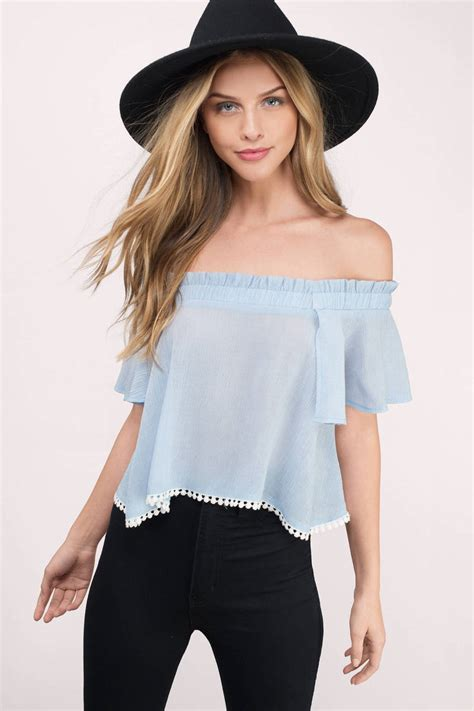 light blue top shoulder top periwinkle top 8