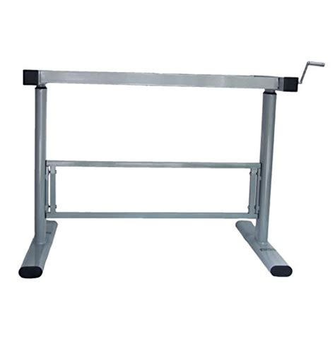 up and down desk manual height adjustable standing desk base frame stand