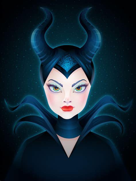 create  enchanting maleficent portrait  adobe illustrator