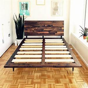 Mid Century Solid Walnut Platform Bed – JeremiahCollection