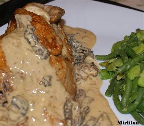 cuisiner coquelet coquelets aux morilles et sa sauce suprême au