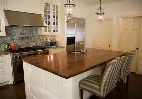 white cabinets with wood countertops natural wooden kitchen countertops for a trendy look