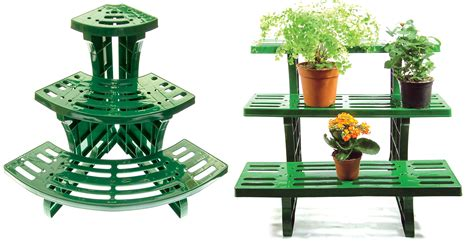 3-tier Etagere Plant Stand Pot Garden Display Straight Or