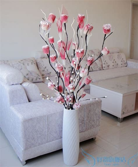 Living Room Artificial Flowers by The Simulation Flowergood Rhyme Vein Dried Flowers