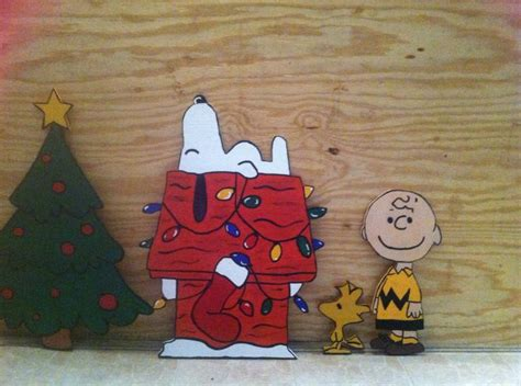 peanuts wooden christmas yard decorations