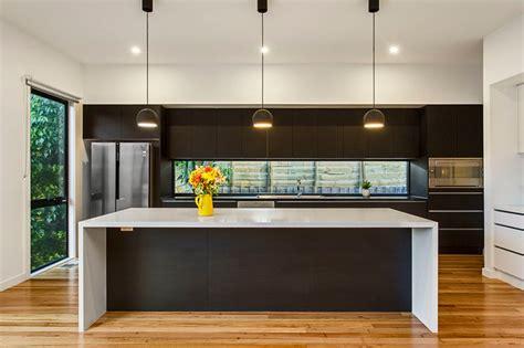 modern kitchen island bench modern kitchen with island bench feature lighting
