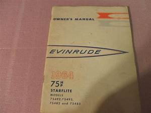 Buy 1964 Evinrude Outboard Motor Owners Manual