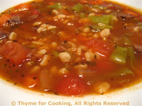Beef Barley Soup; gaining respect   Thyme for Cooking, Blog