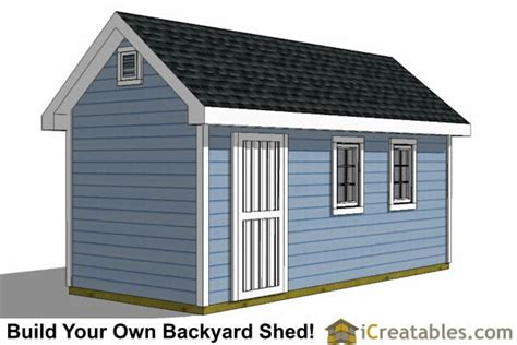 8x16 Shed Floor Plan by 8x16 Traditional Backyard Shed Plans