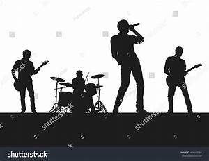 Rock Band On Stage Stock Vector 406689184 - Shutterstock