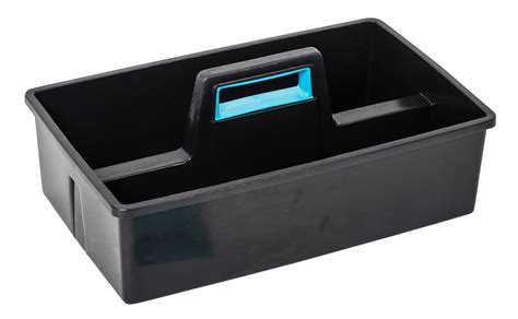 black carry caddy  storage box
