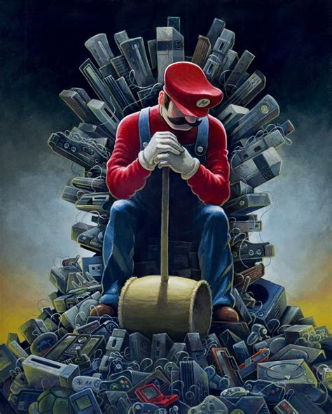 super mario game  thrones crossover iron throne