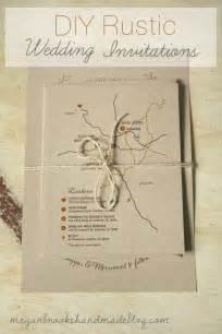 wedding invitations diy diy rustic wedding invitations megan handmade