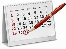Desktop calendar Vector Stock Vector Colourbox