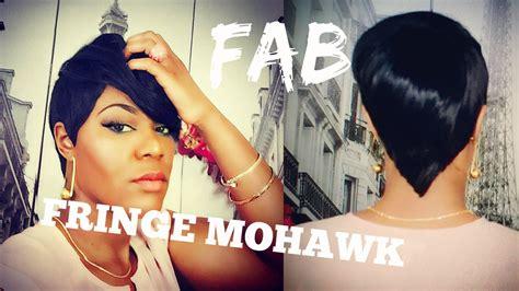 fab fringe mohawk quickweave tutorial youtube