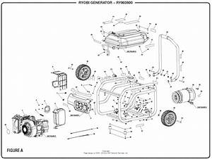 Homelite Ry903600 Inverter Generator Mfg  No  090930278 Parts Diagram For Figure A