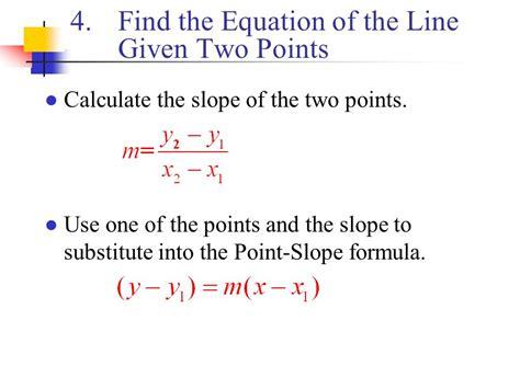 Find Equation Of Line Given Two Points Worksheet