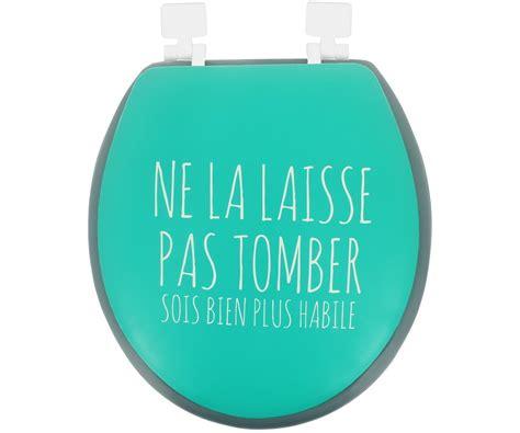 l abattant des toilettes abattant de toilettes wc mousse design humour expression turquoise 7295