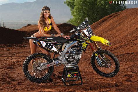 transworld motocross pinups marissa and millsaps 39 rockstar rm z450 transworld motocross