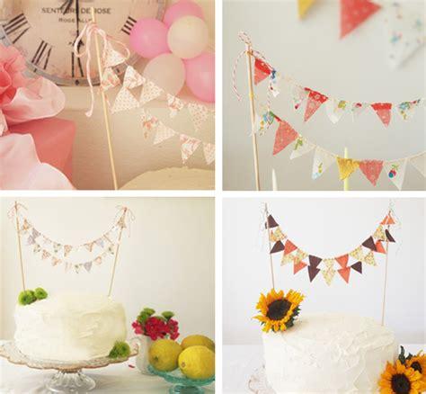 cake bunting diy primadonna bride