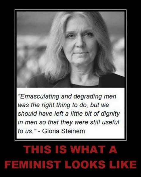 This Is What A Feminist Looks Like Meme - emasculating and degrading men was the right thing to do but we should have left a little bit of