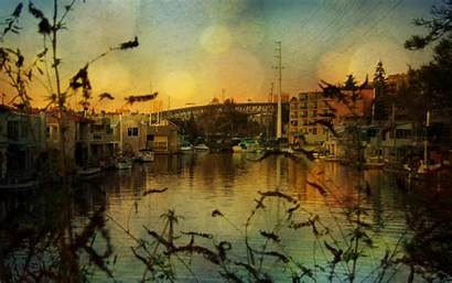 Background Desktop Wallpapers Landscape River Sad Buildings