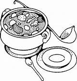 Clipart Salad Soup Clip Coloring Colouring Line Advertisement sketch template