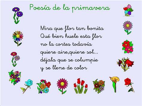poemas cortos de la primavera en la clase nos hemos aprendido esta poes 237 a de la primavera