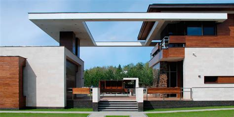 impressive contemporary house  moscow russia