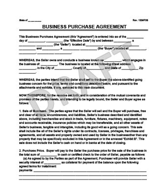 Selling A Business Contract Template by Business Purchase Agreement Template Free Sanjonmotel