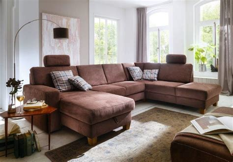 canape en  madison nubuck altara marron sb meubles discount