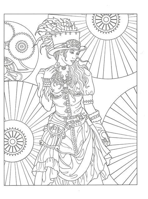 Steampunk Coloring Pages For Adults at GetColorings com
