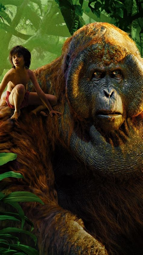 wallpaper  jungle book  boy  gorilla
