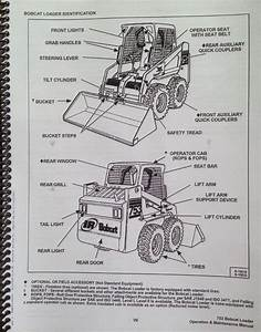 Bobcat 753g 753 G Operation  U0026 Maintenance Manual Book