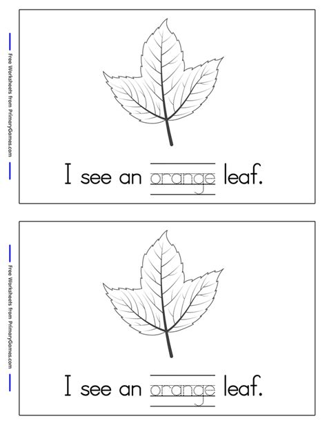 fall worksheets fall leaves mini book page