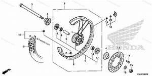 Honda Motorcycle 2008 Oem Parts Diagram For Front Wheel