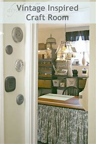 Vintage-Inspired Craft Room
