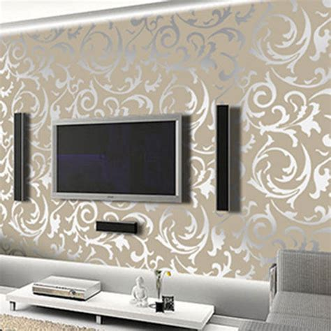 embossed wallpaper  rs  roll thane west