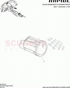 Aston Martin Rapide Glove Box Open Switch Parts