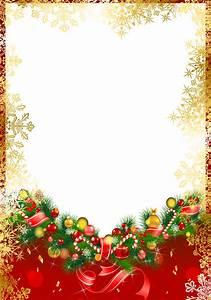 Red Christmas PNG Frame with Gold Snowflakes   Ekeresimesi ...