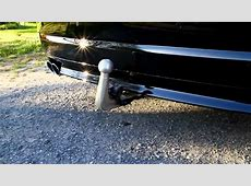 Electric Folding Tow Hitch on BMW 5 series YouTube