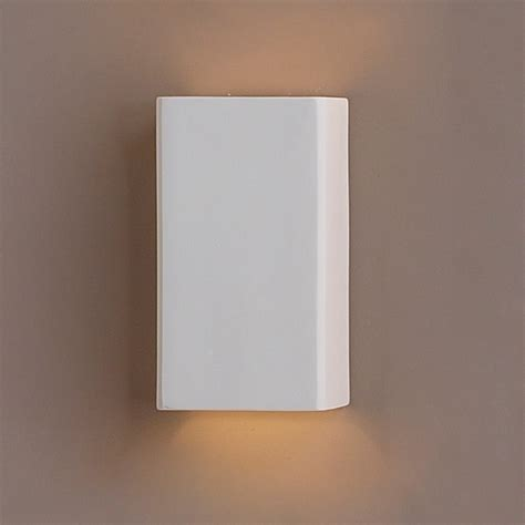quot clean block ceramic wall sconce