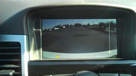 chevrolet cruze rear view camera information youtube