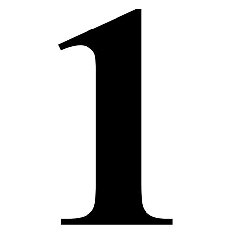 image gallery number 1 fonts