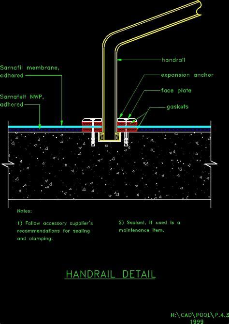 detalle piscina dwg block  autocad designs cad