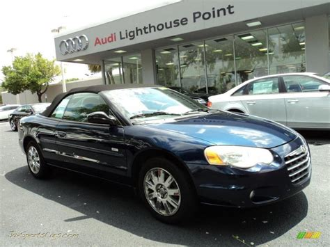 chrysler sports car convertible 2005 chrysler sebring touring convertible in blue