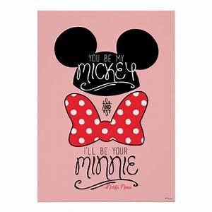 Mickey & Minnie | Love Poster | Zazzle